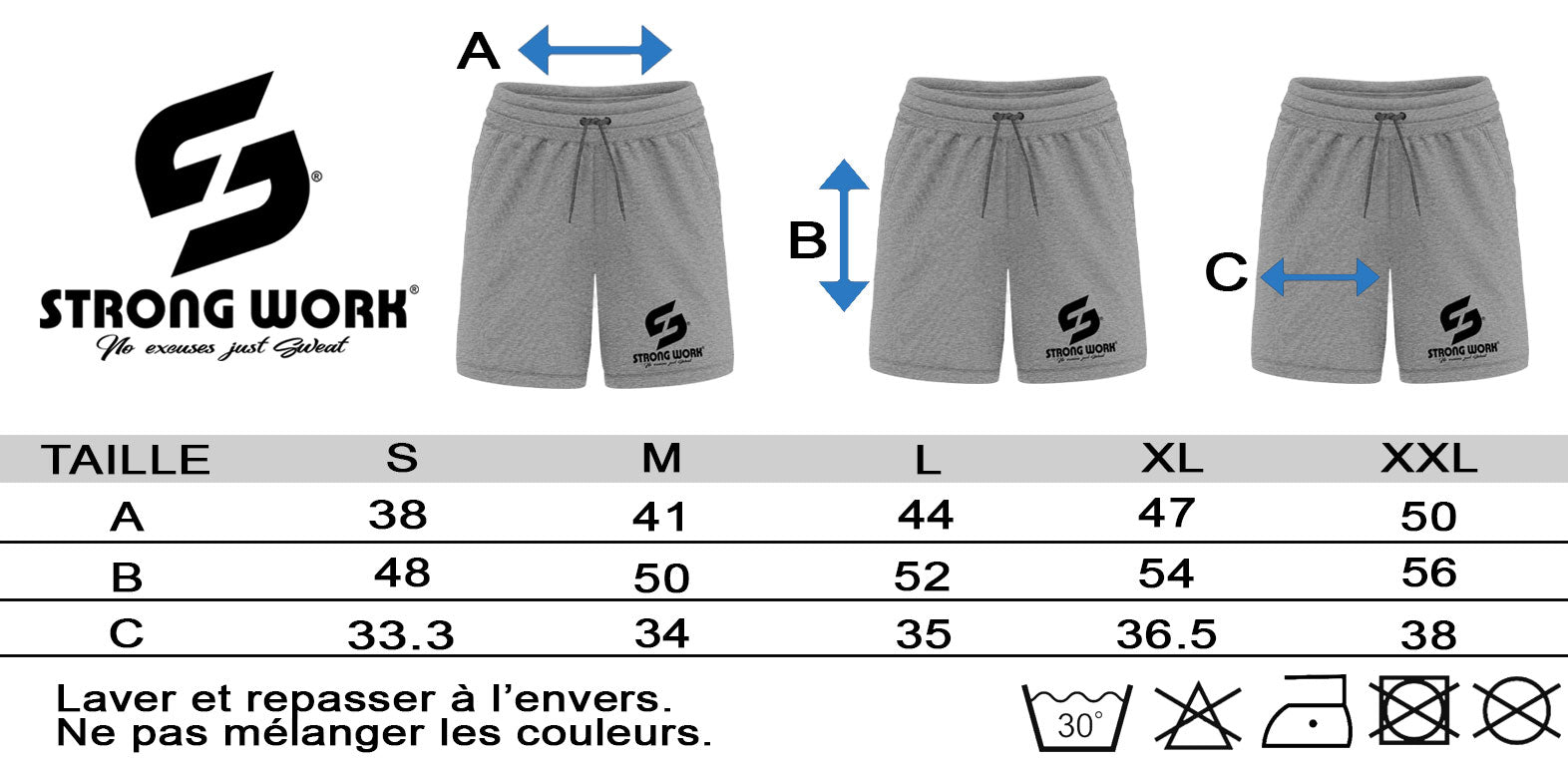 SHORT STRONG WORK POUR HOMME