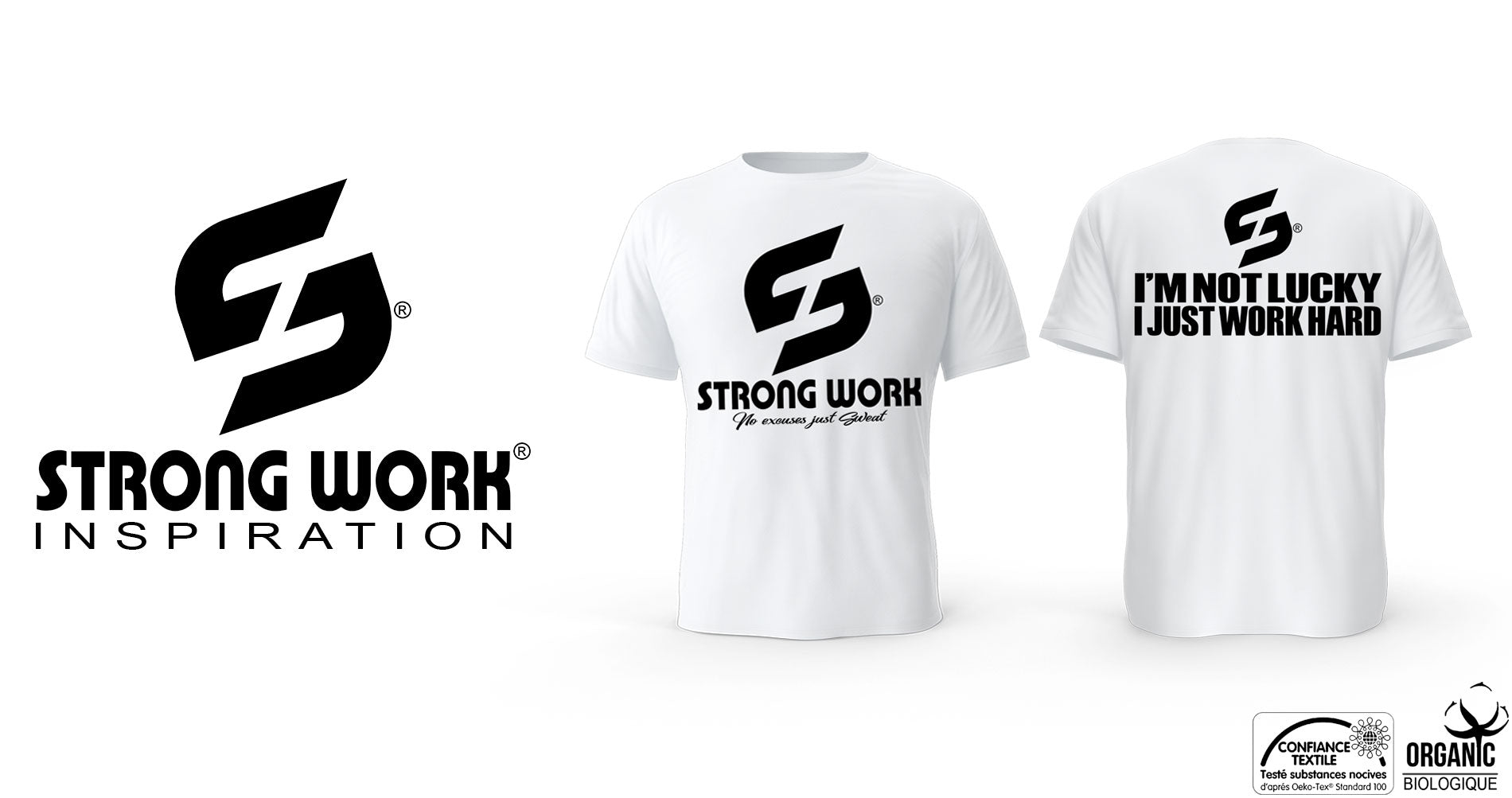 T-SHIRT STRONG WORK POUR HOMME I'M NOT LUCKY
