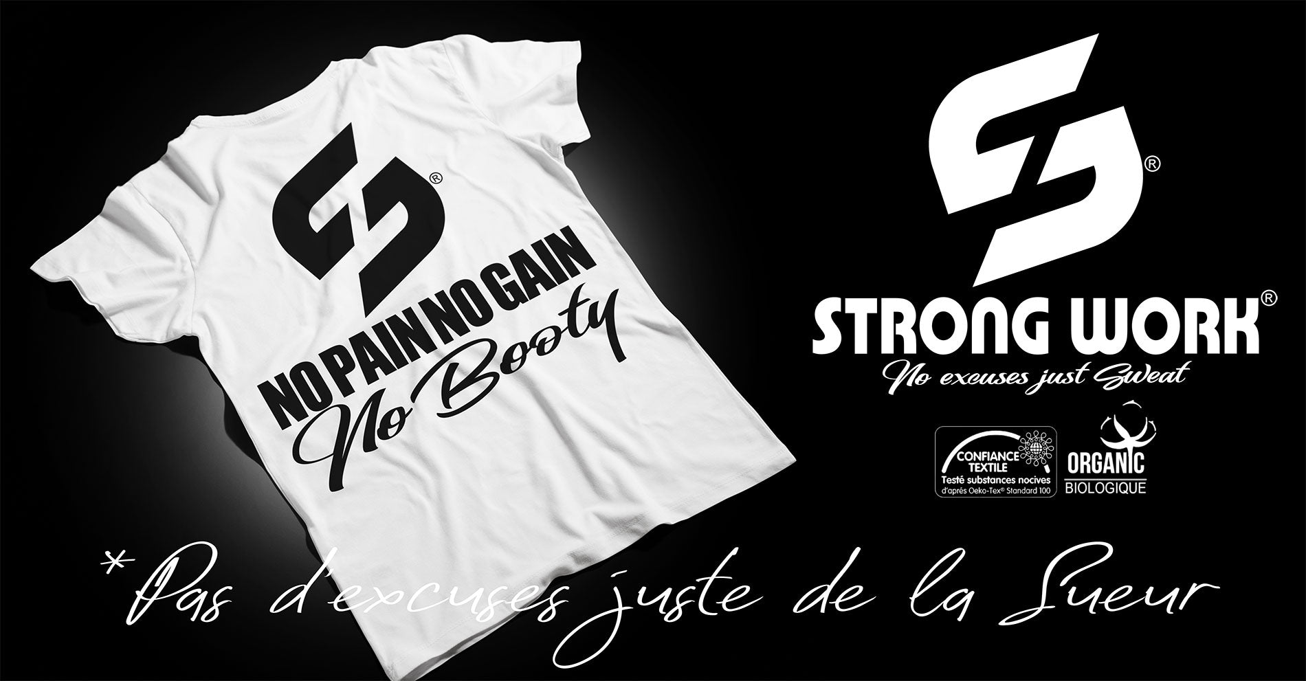 T-SHIRT STRONG WORK INSPIRATION POUR FEMME