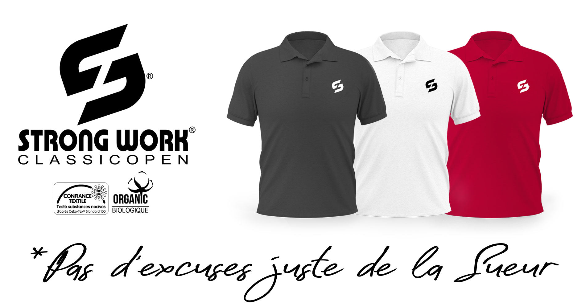 Polo Strong Work Classic Open pour Homme