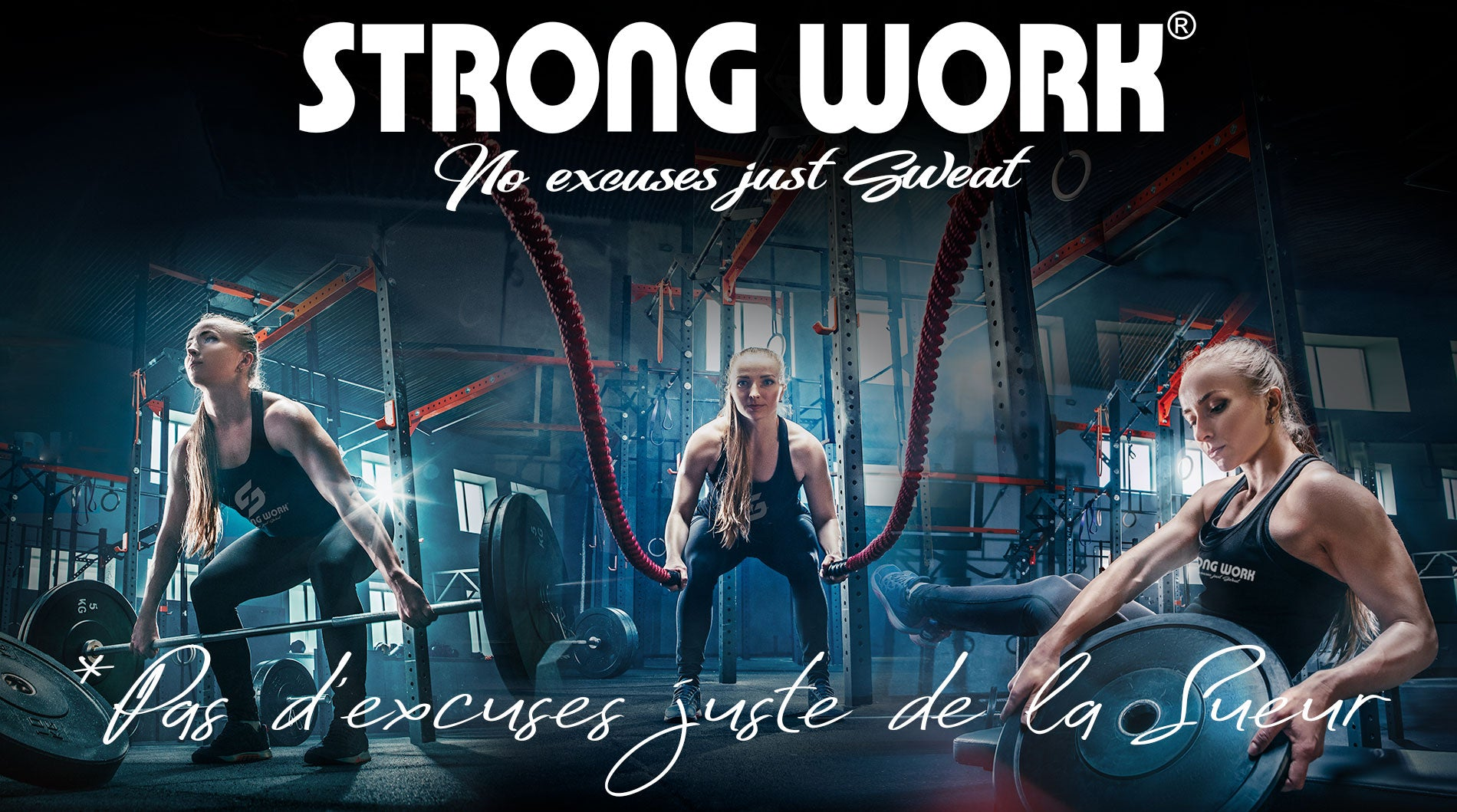 DEBARDEUR STRONG WORK INSPIRATION POUR FEMME