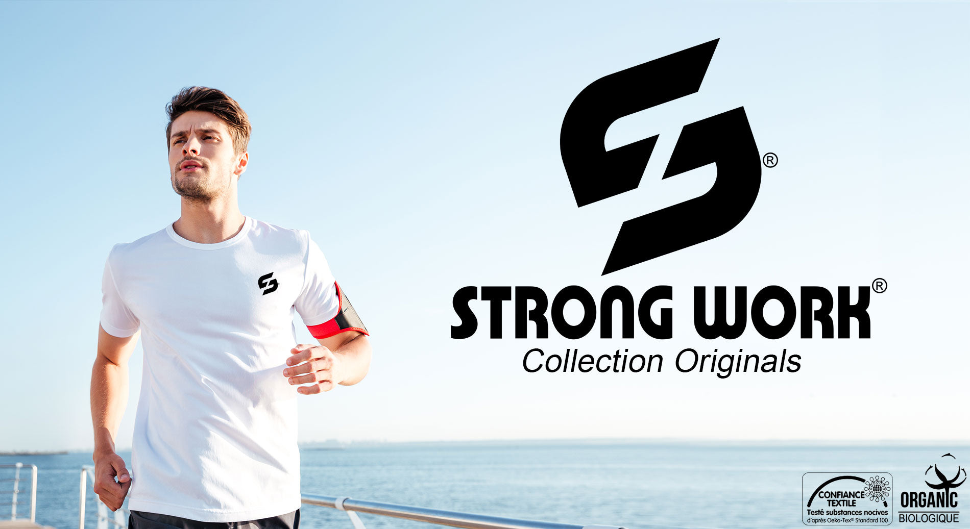 T-SHIRT POUR HOMME STRONG WORK NEW CLASSIC OPEN