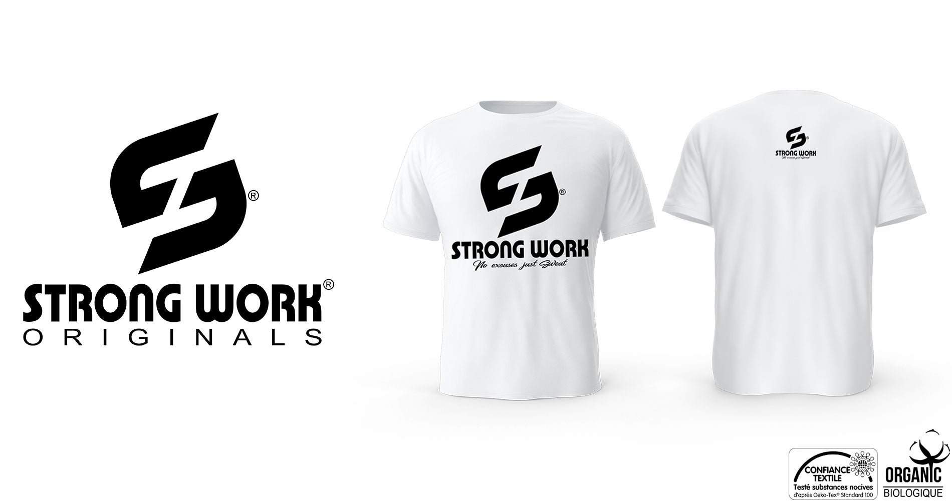 T-Shirt bio Strong Work Challenge pour Homme