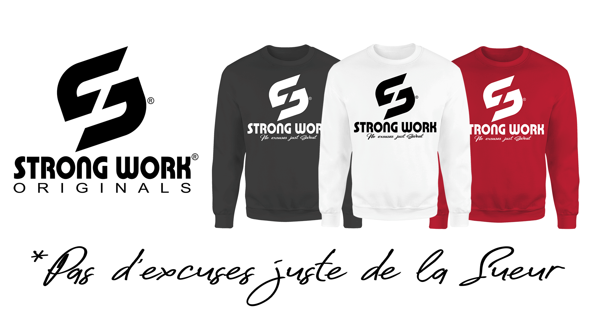 Sweat-Shirt Strong Work Originals pour Homme