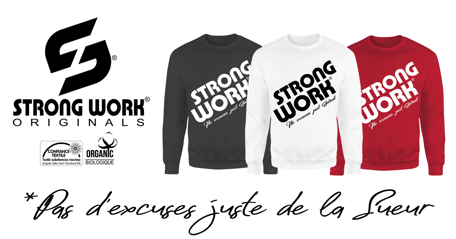 Sweat-Shirt Strong Work Prodigy pour Homme Collection Originals