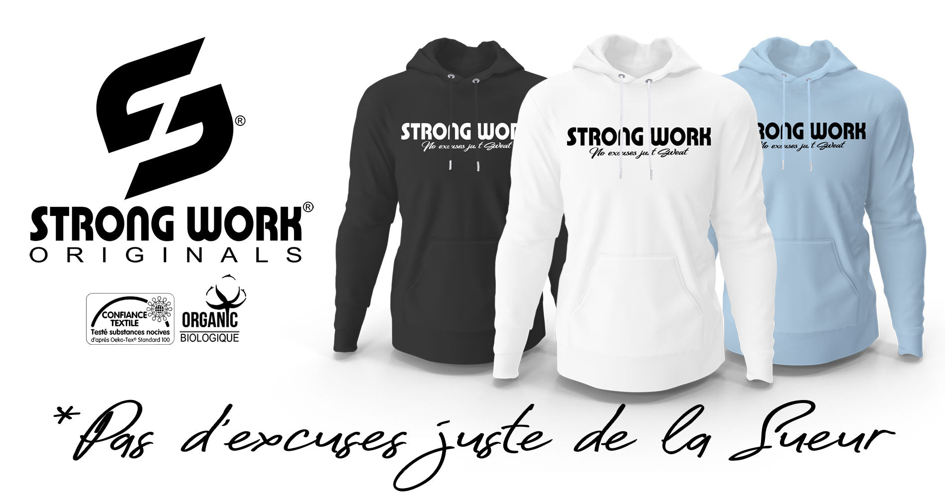 Sweat-Shirt à capuche Strong Work Intensity pour Homme