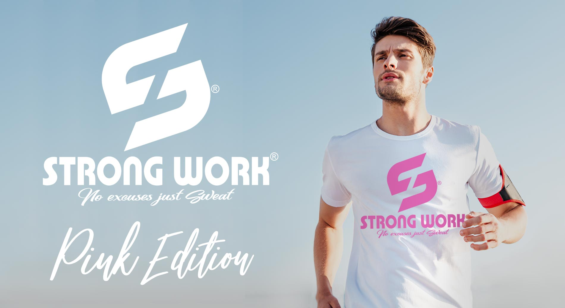 STRONG WORK ORIGINALS PINK EDITION POUR HOMME - ORGANIC SPORTSWEAR