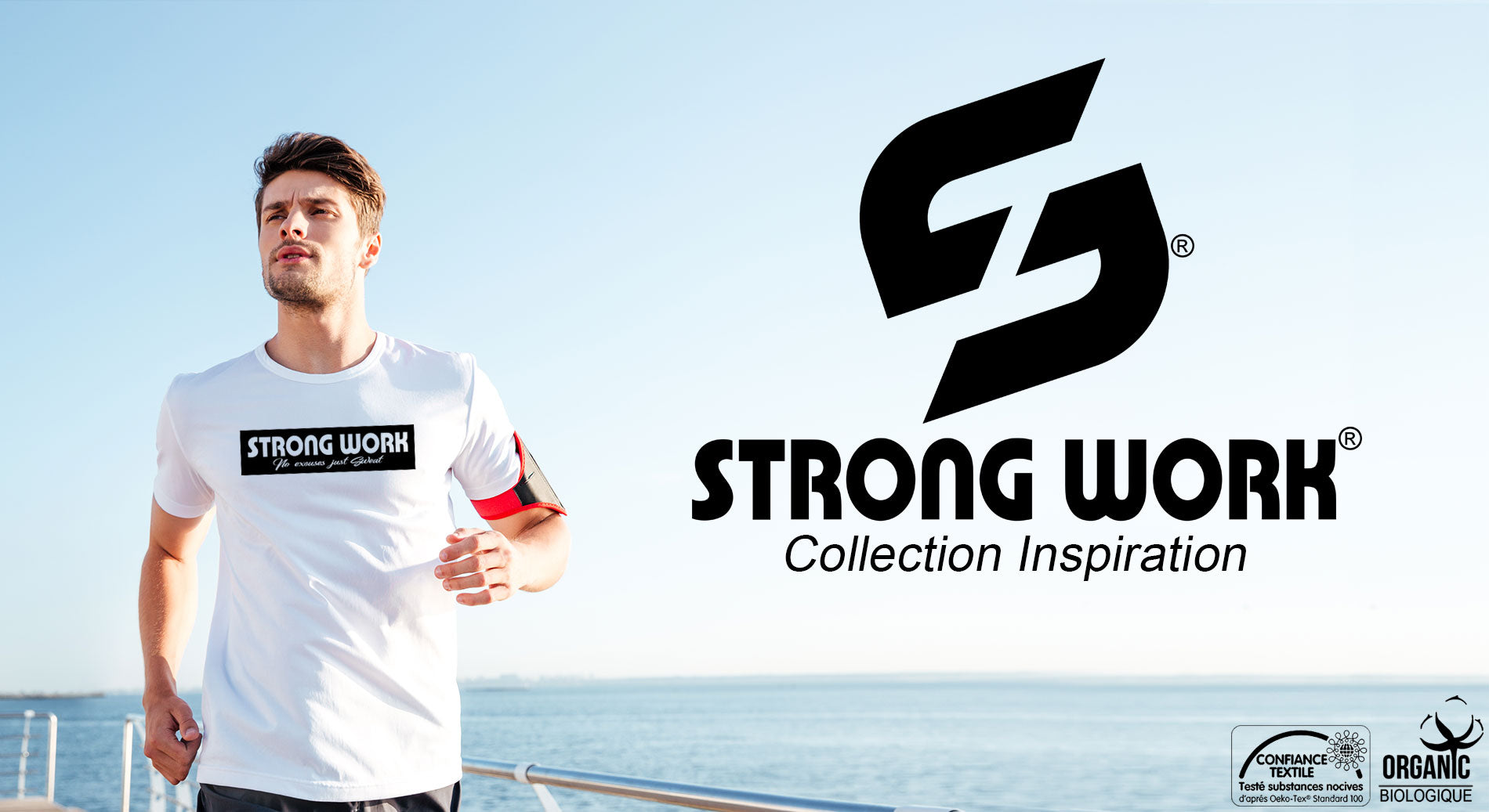T-SHIRT POUR HOMME STRONG WORK TENACITY