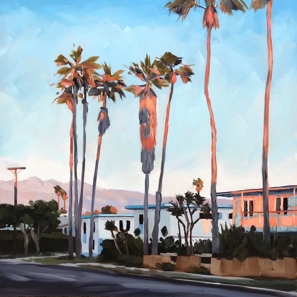 Pink Sunset Palms II  Show Opening THIS Friday!