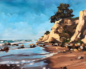 Leadbetter Rocks and Beach - 8x10
