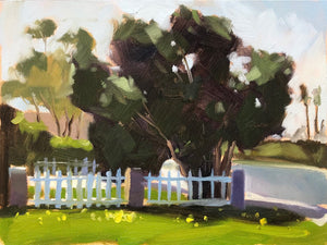 Plein Air Clovers and Trees