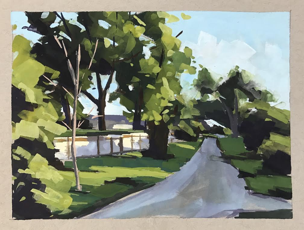 Shadow Path - Gouache