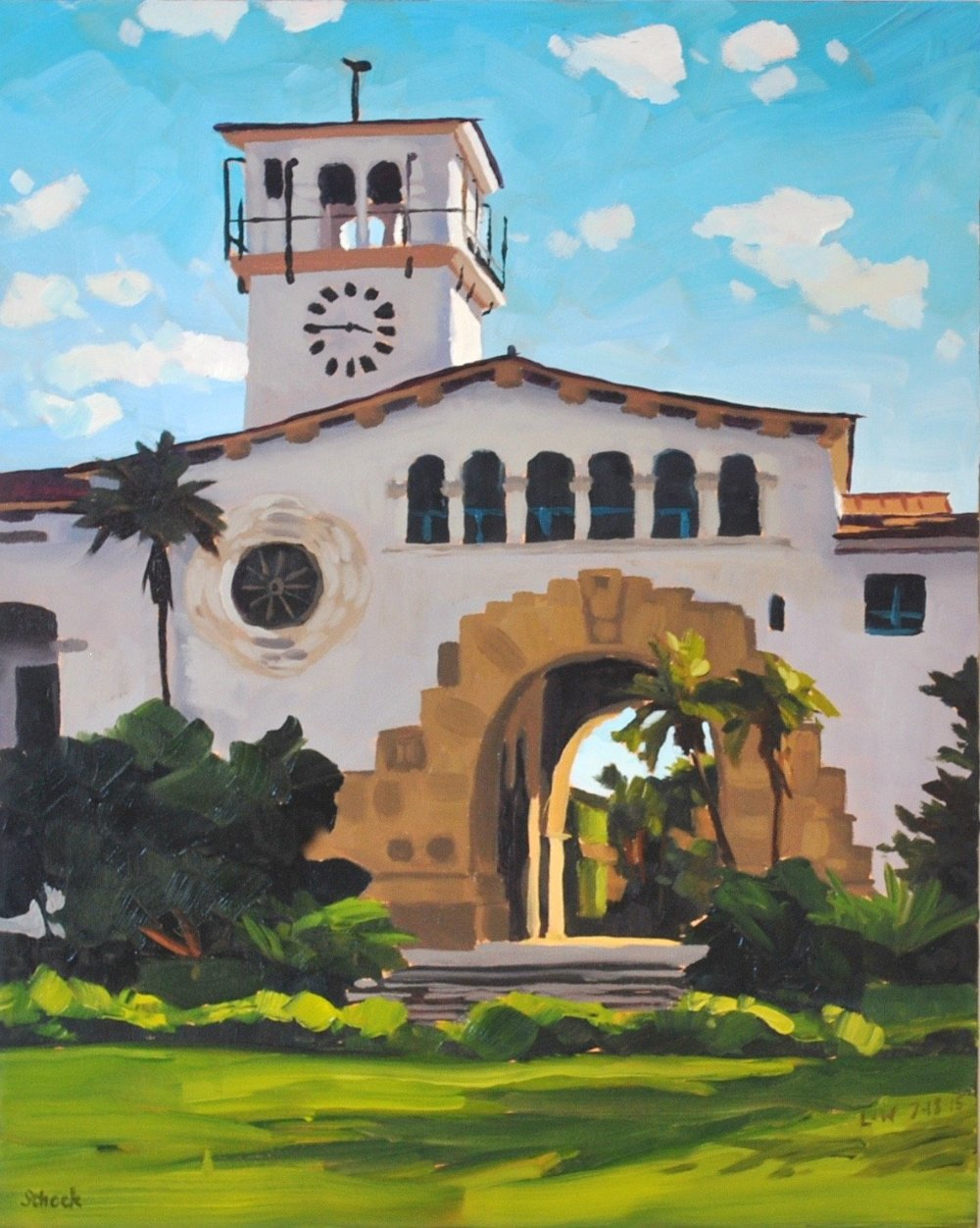 Courthouse, Afternoon - Canvas Print