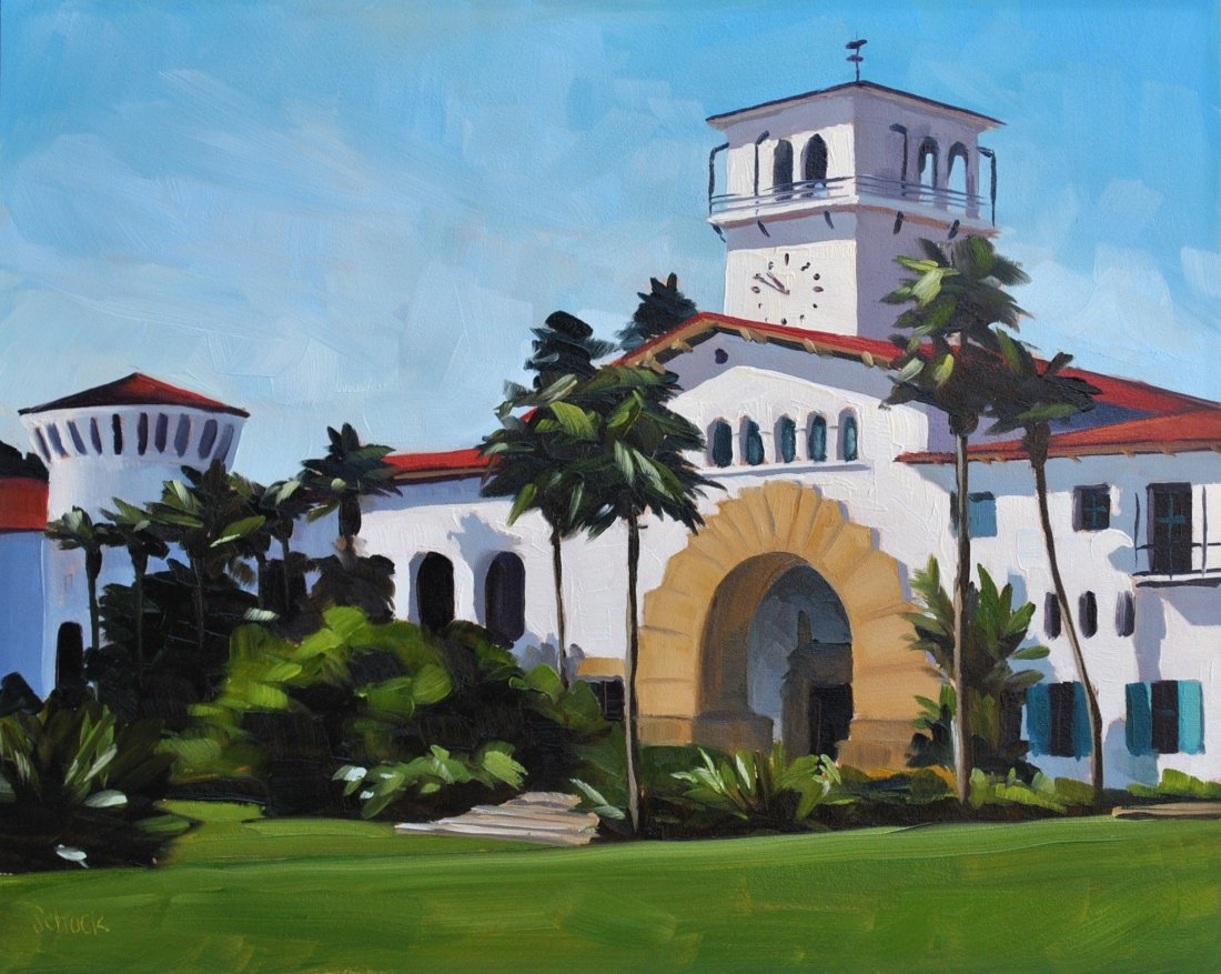 Santa Barbara Courthouse, Morning - Print