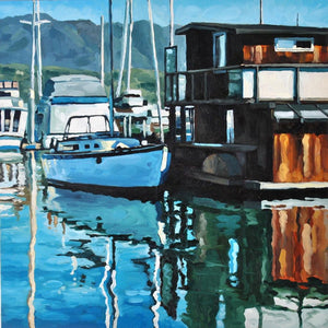 Santa Barbara Harbor - Canvas Print