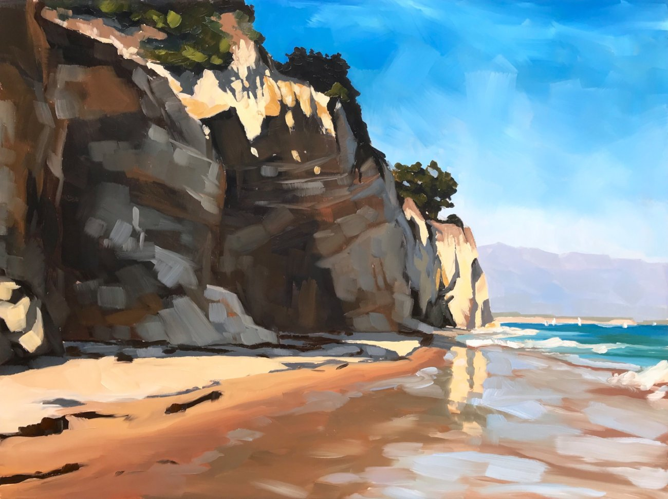 Shoreline Beach Cliffs - Art Print