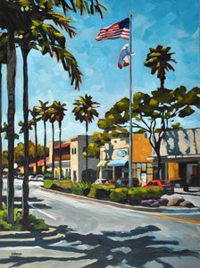 Linden Ave, Carpinteria - Canvas Print