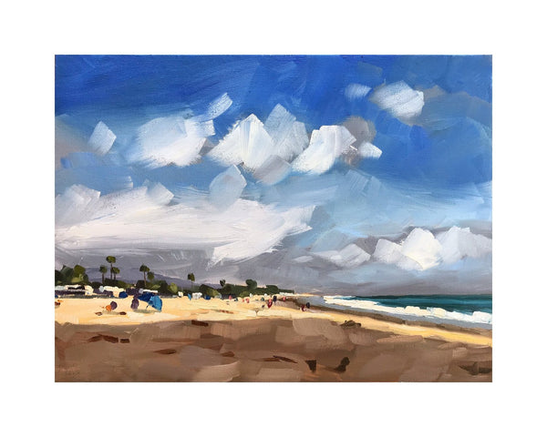 Late Afternoon Beach - Canvas Print