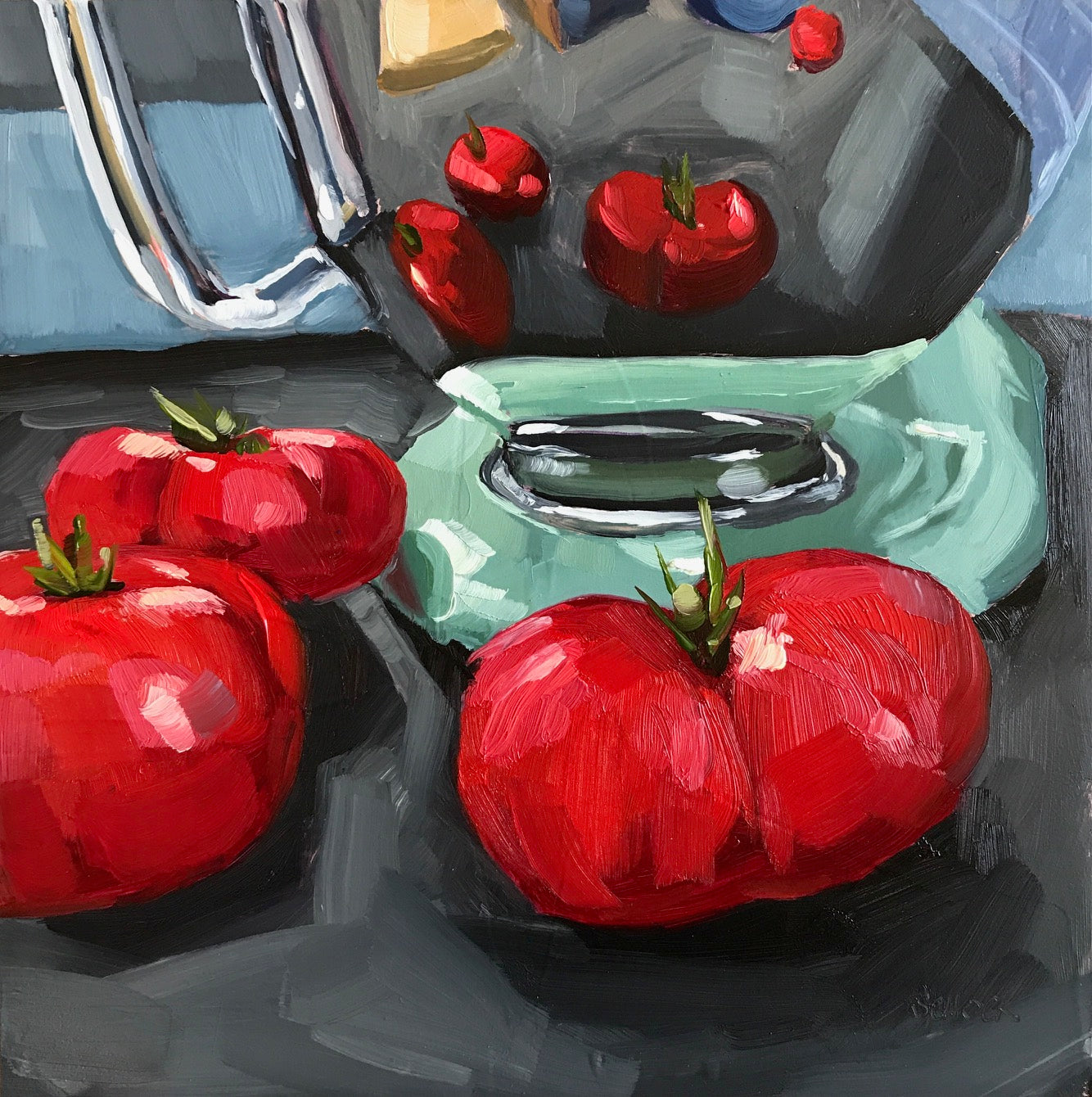 Kitchenaid and Tomatoes - 6x6