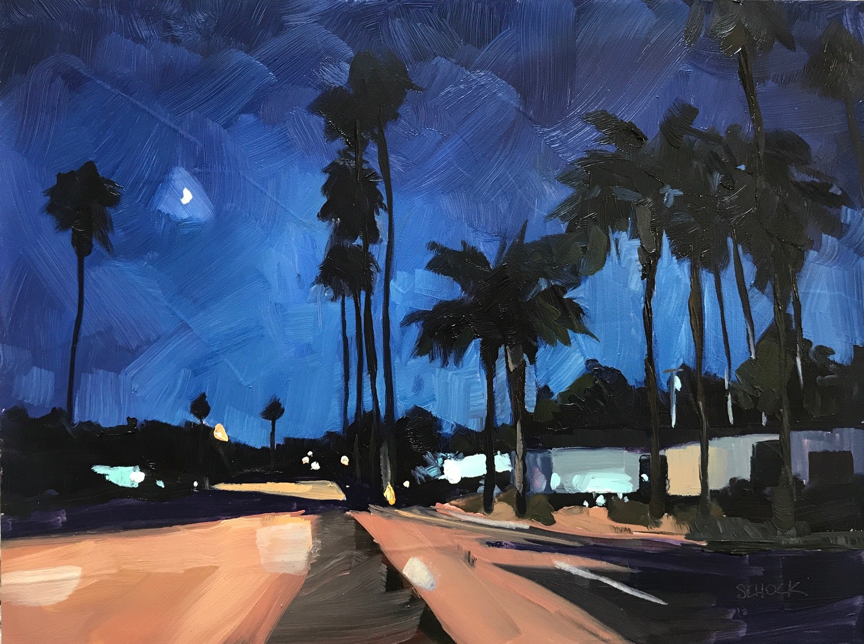 Neighborhood Nocturne V -6x8