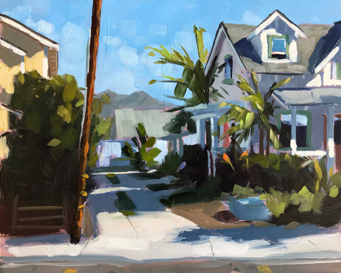 Small Town Colors - Plein Air - 8x10