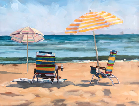 Beach Stripes - 9x12