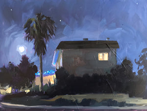 Neighborhood Nocturne I - Plein Air - 6x8