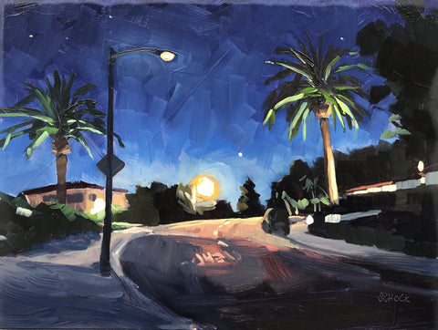 Neighborhood Nocturne VI - 6x8