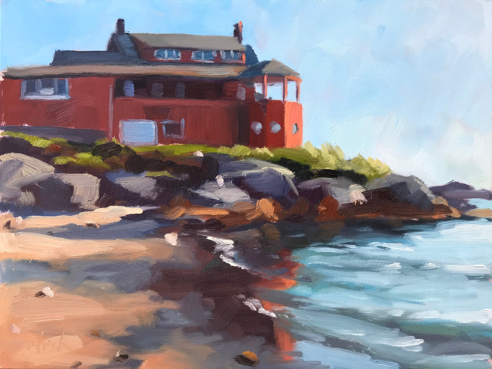 Red House on the Water - 6x8