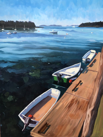 Port Clyde Boats - 18x24