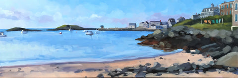 Monhegan Harbor - 8x24