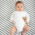 Black & white stripe cotton muslin baby wrap