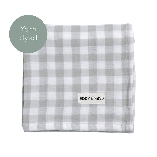 Swaddle Wrap - Gingham | Fog