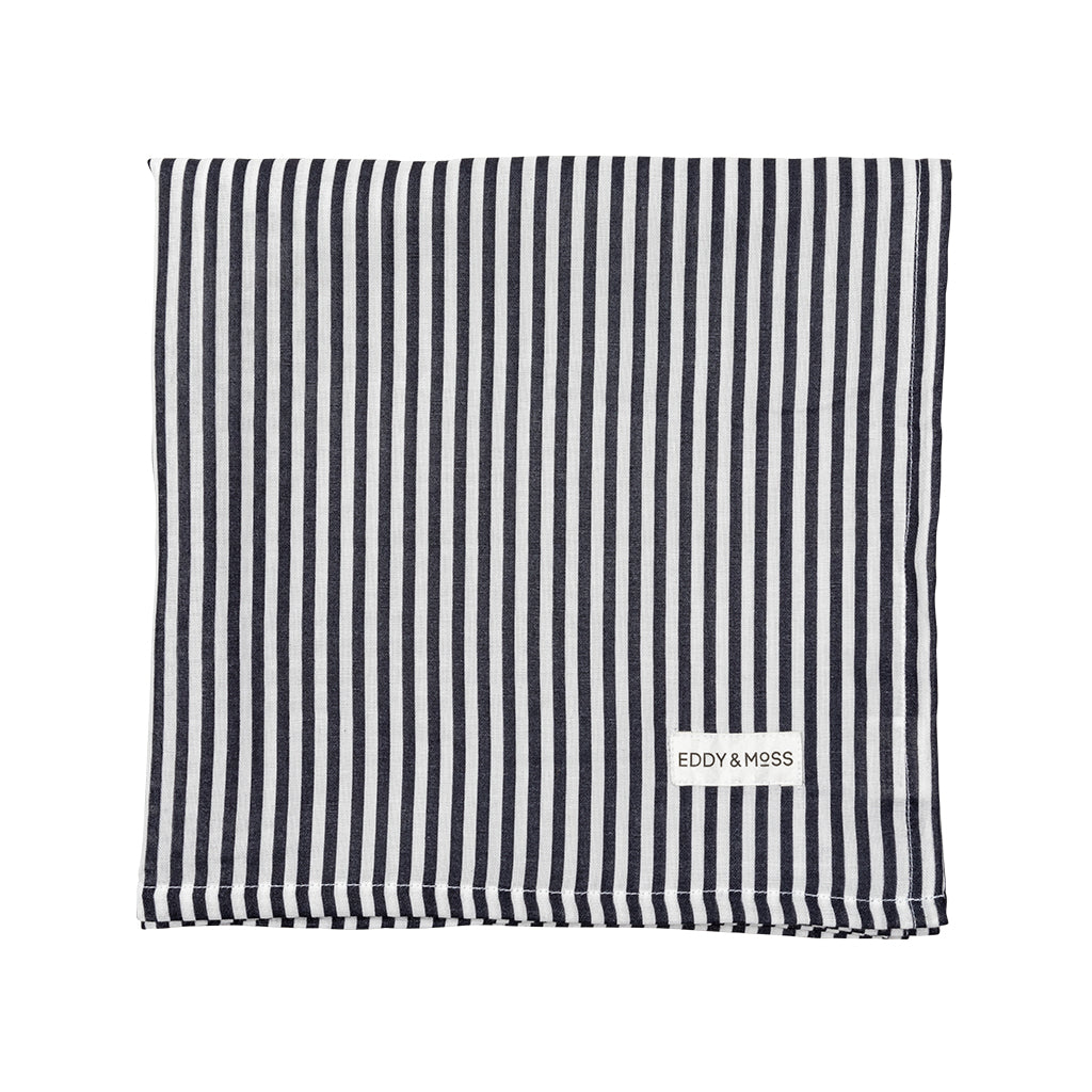 100% Organic Muslin | Swaddle | Stripe | Navy