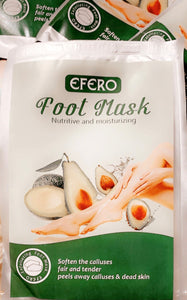 Organic foot peeled mask