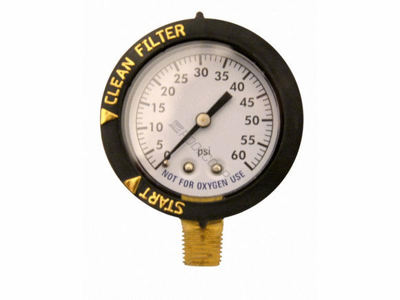 Pentair PNCC0200OP1260 (Before 2009) Clean & Clear Above Ground Filter Pressure Gauge Compatible Replacement