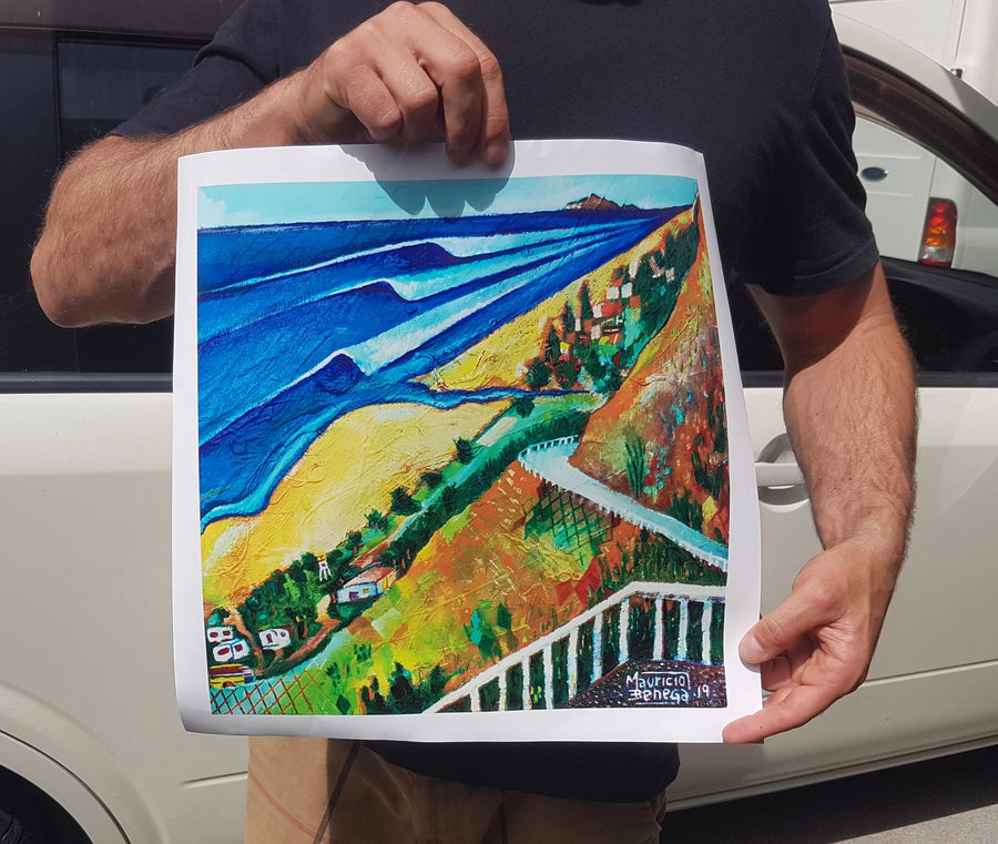 OCEAN BEACH - UNLIMITED EDITION - ADHESIVE VINYL - 350x350mm