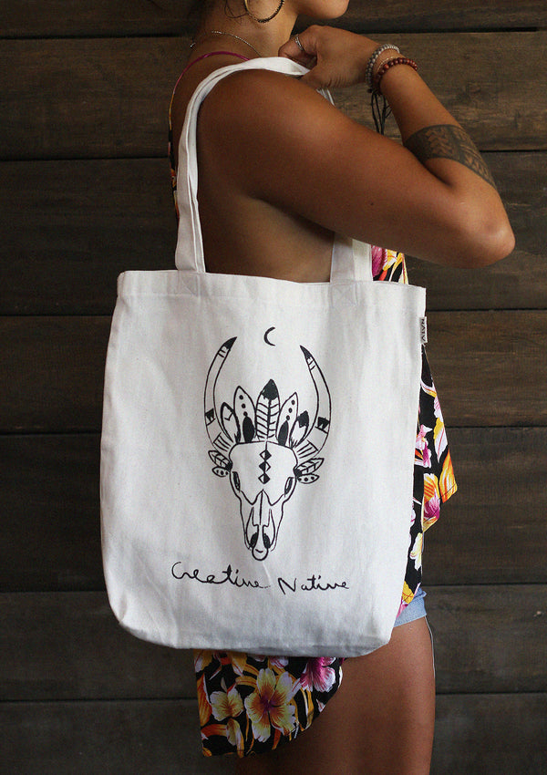 Moon Feather Tote Bag