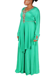 Kaftan Design # 1002 - Aqua Green