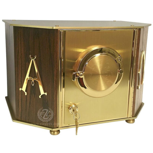 Ziegler | Style 7130 | Exposition Tabernacle | Brass and Oak