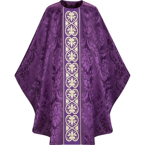 Purple Gothic Chasuble-1,Purple Gothic Chasuble-2