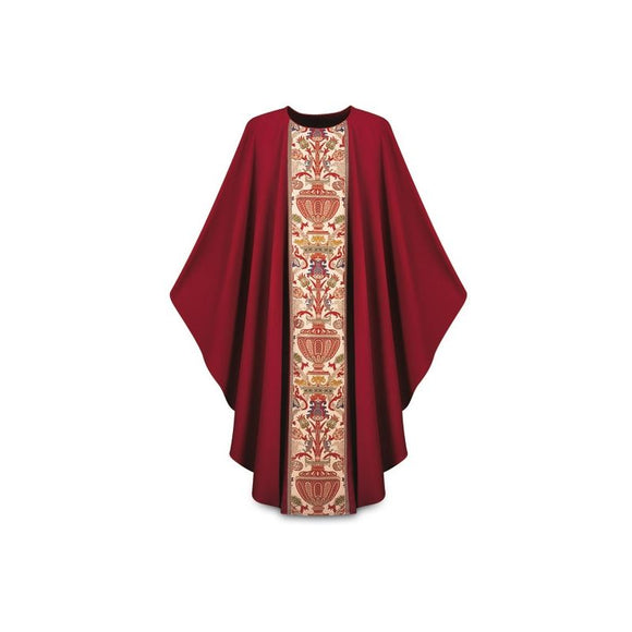 Dark Red Gothic Chasuble-1