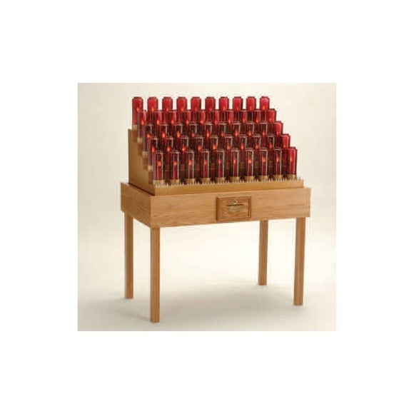 19XE750TB Oak Table Electronic Votive Stand