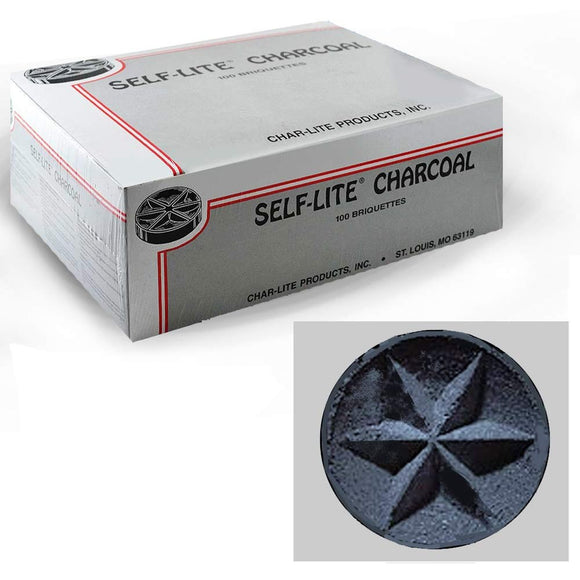 Self-Lite Charcoal Briquettes/ Box of 100