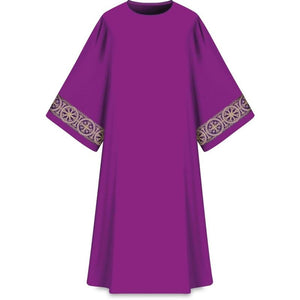 ASSISI Dalmatic with woven orphrey (purple)-1,ASSISI Dalmatic with woven orphrey (purple)-2