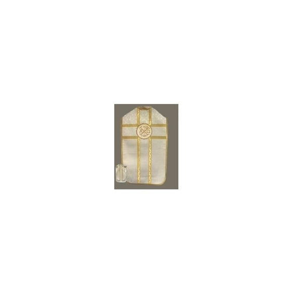White (Lined) Roman chasuble-1