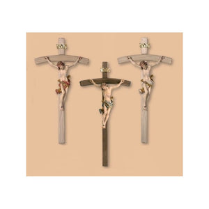 704000 Crucifix Leonardo- Wood Carved   Sash Color White