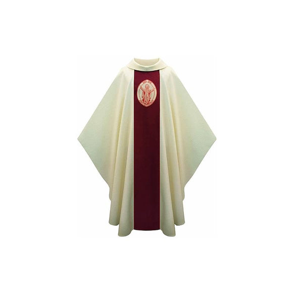 White Chasuble with logo of Year for Priests-1,White Chasuble with logo of Year for Priests-2