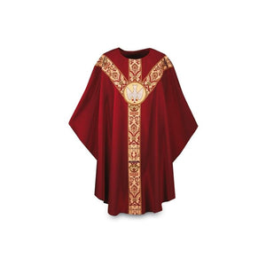 Dark Red Gothic Chasuble-1,Dark Red Gothic Chasuble-2