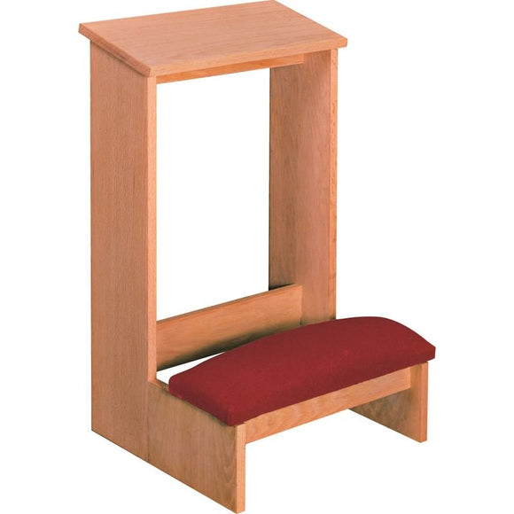 PRIE DIEU,FINISHED,WOOD KNEELER